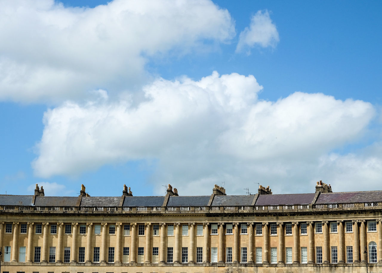 Cloud - Sky Architecture Sky Outdoors Day Architectural Column Building Exterior City Bath The Crescent Buildings