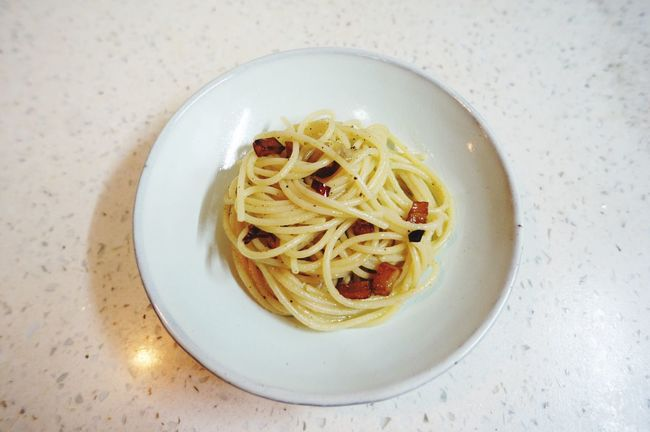Eating Spaghetti Pasta Homemade Home Sweet Home Garlic Chili  Nightsnack China Photos Guangzhou