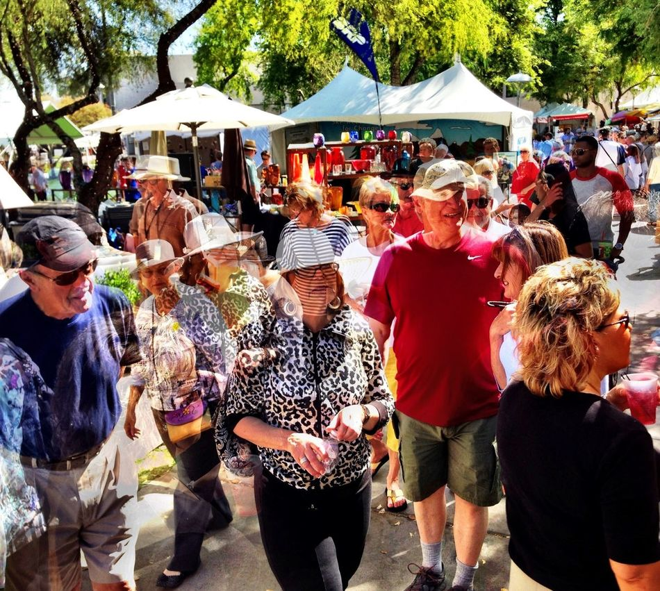 Lots of people today at the Scottsdale Arts Festival IPhoneography Street Art Scottsdale