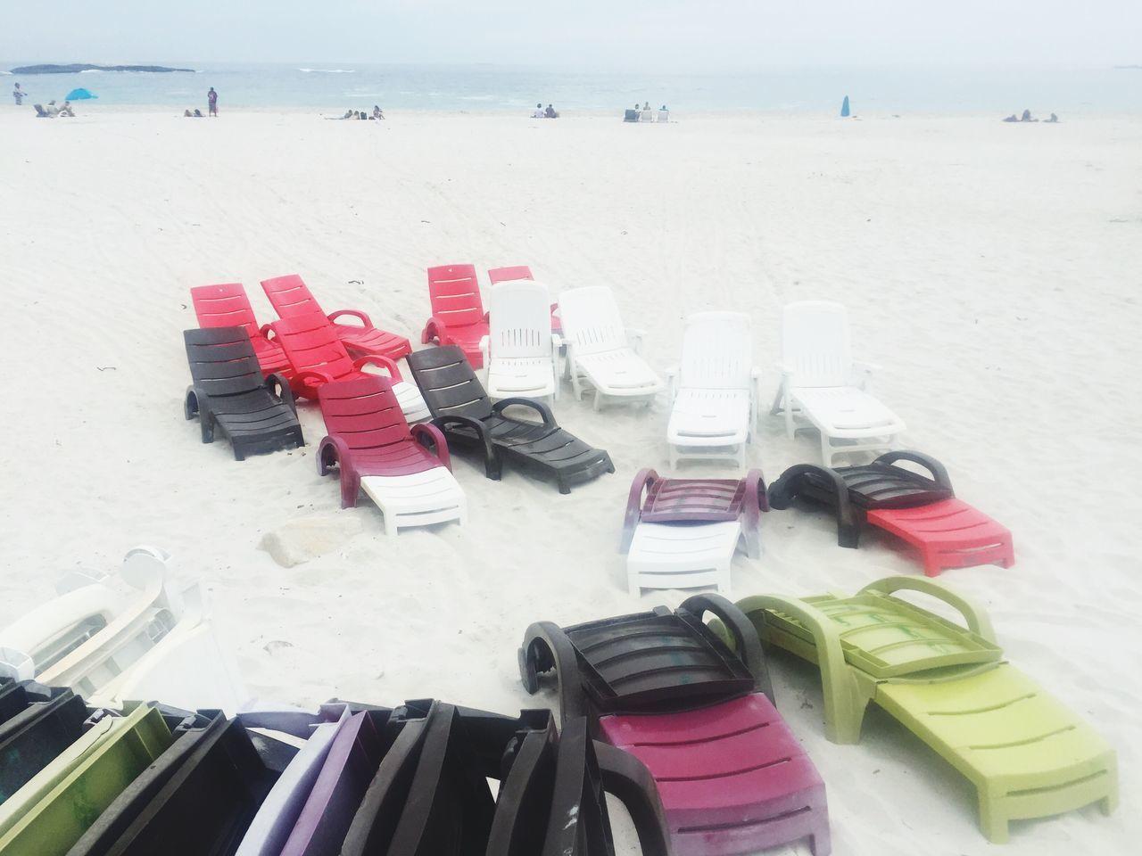Beach Sand Outdoors Vacations Summer Day No People Nature Beach Beds Beachchair Lounger