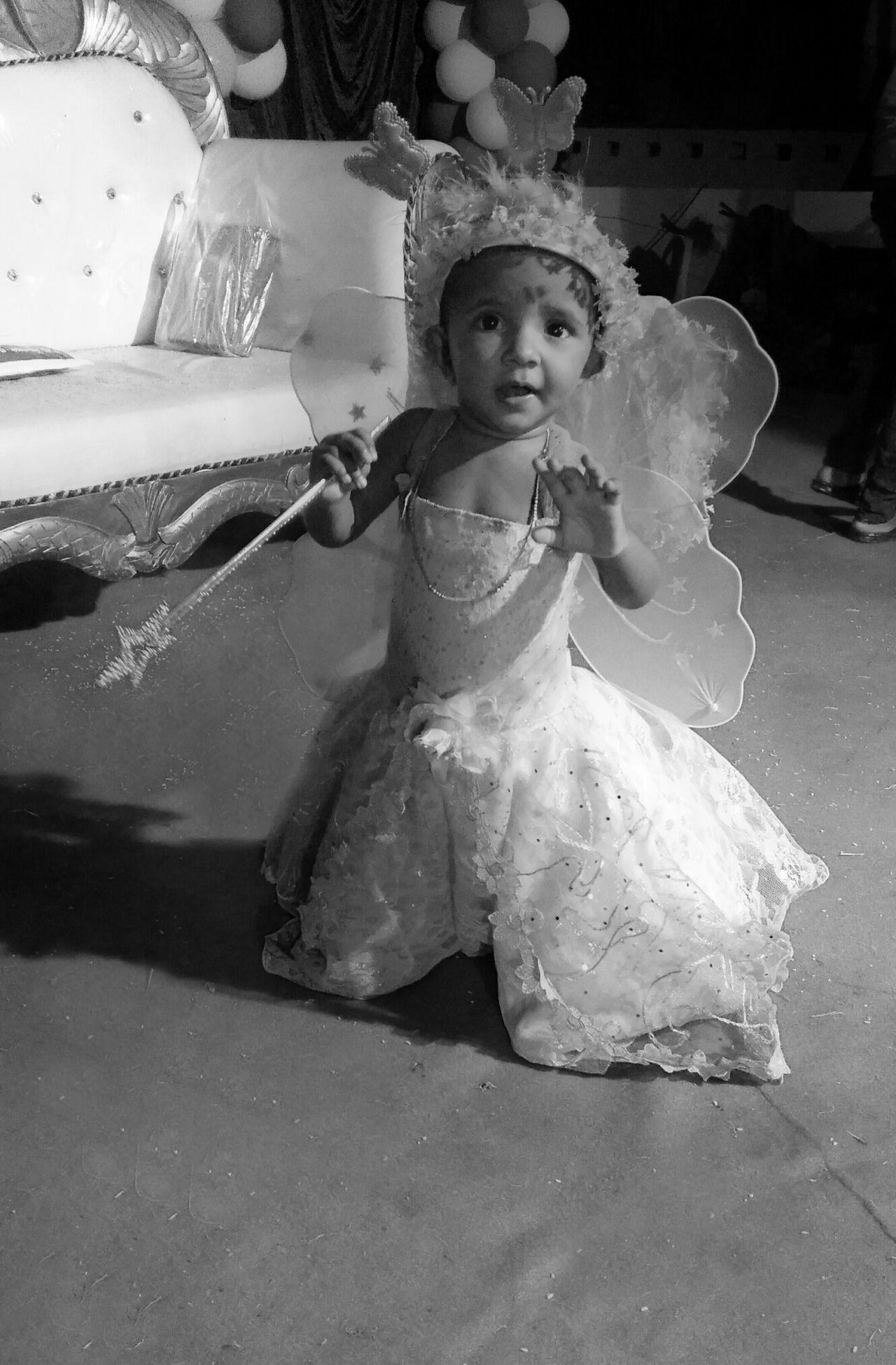 Babygirl Birthday Birthdaygirl Angel Kid Blackandwhite Little Girl Angel Wings Baby ❤ Cute Cute Girl Childhood Smiling Girls Happiness Full Length Cheerful One Girl Only Portrait Outdoors Child Children Only
