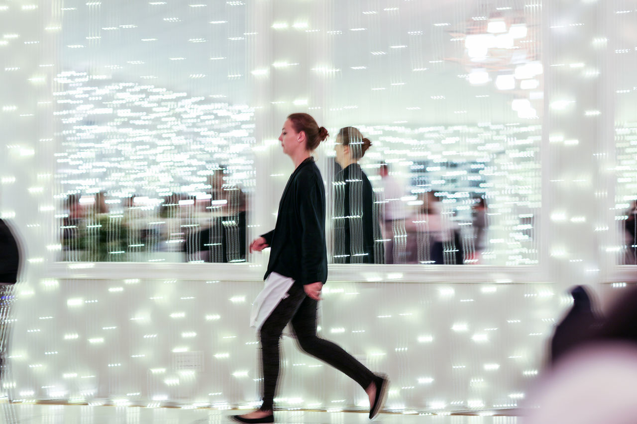 move Blur Event Illuminated Indoors  Lifestyles Lights Lights In The Dark Luxury Motion Motion Blur Motion Photography Move Night One Person Reflection Reflection Photography Reflections Walk Wedding