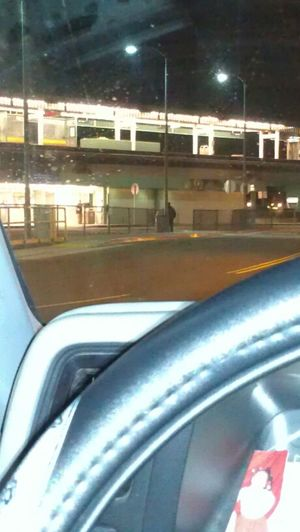 sitting in the car waiting on my cousin to get off at bayfair Bart from work!!