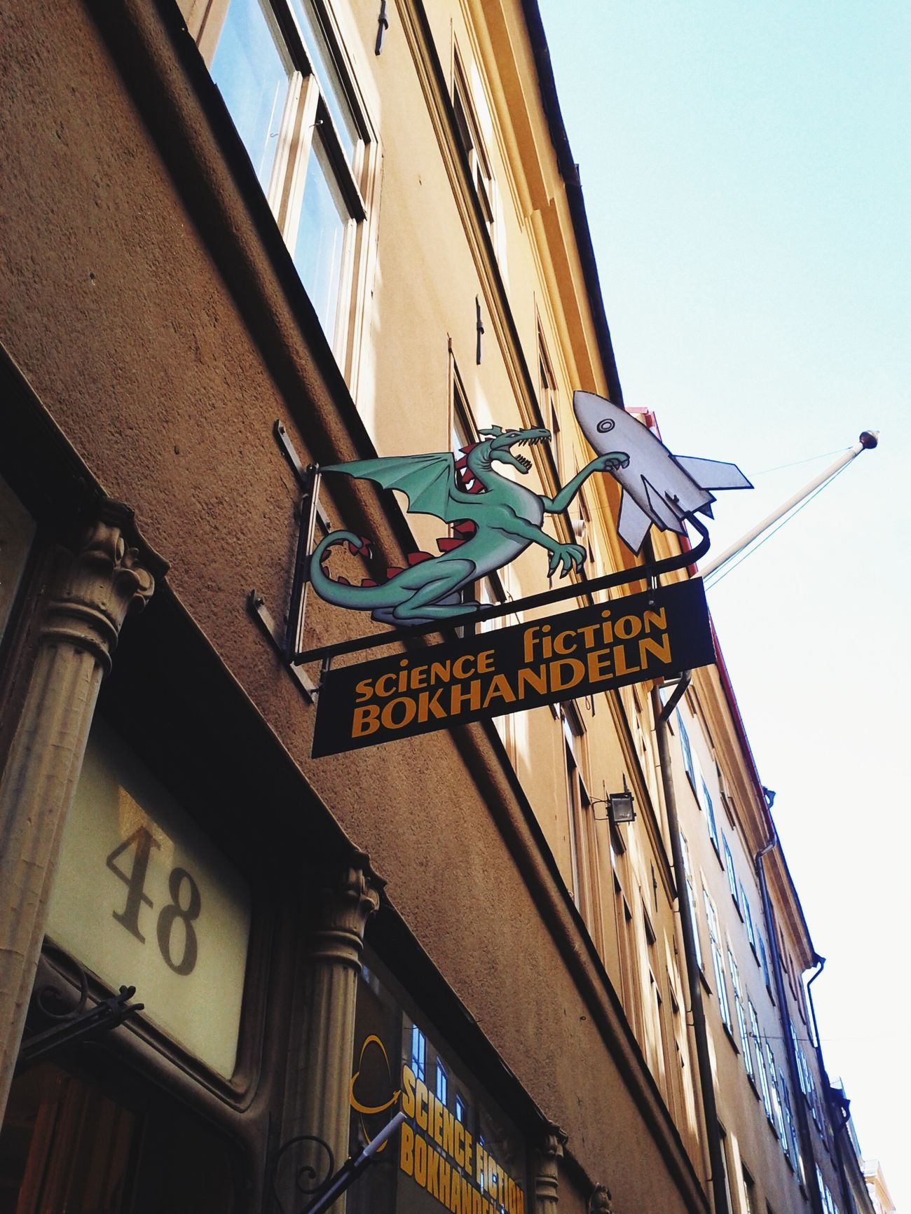 Bookstore Science Fiction Stockholm Signs