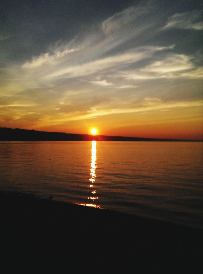 Fire meets water IPS2015Color Sunset Fingerlakes Rainbow Sky