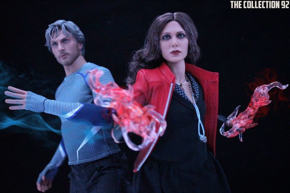 The Twins Quicksilver ScarletWitch Marvel AgeOfUltron Avengers Ironman Captainamerica Civil War Toy Toys Toy Photography Toycommunity Toysphotography TC92 Toycommunities Toydiscovery Hottoys Comics Display Photograph