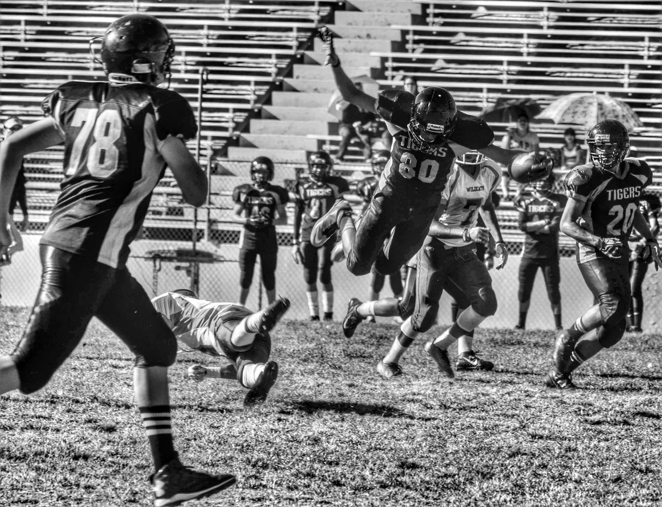 Football Highschool Los Angeles, California Black & White