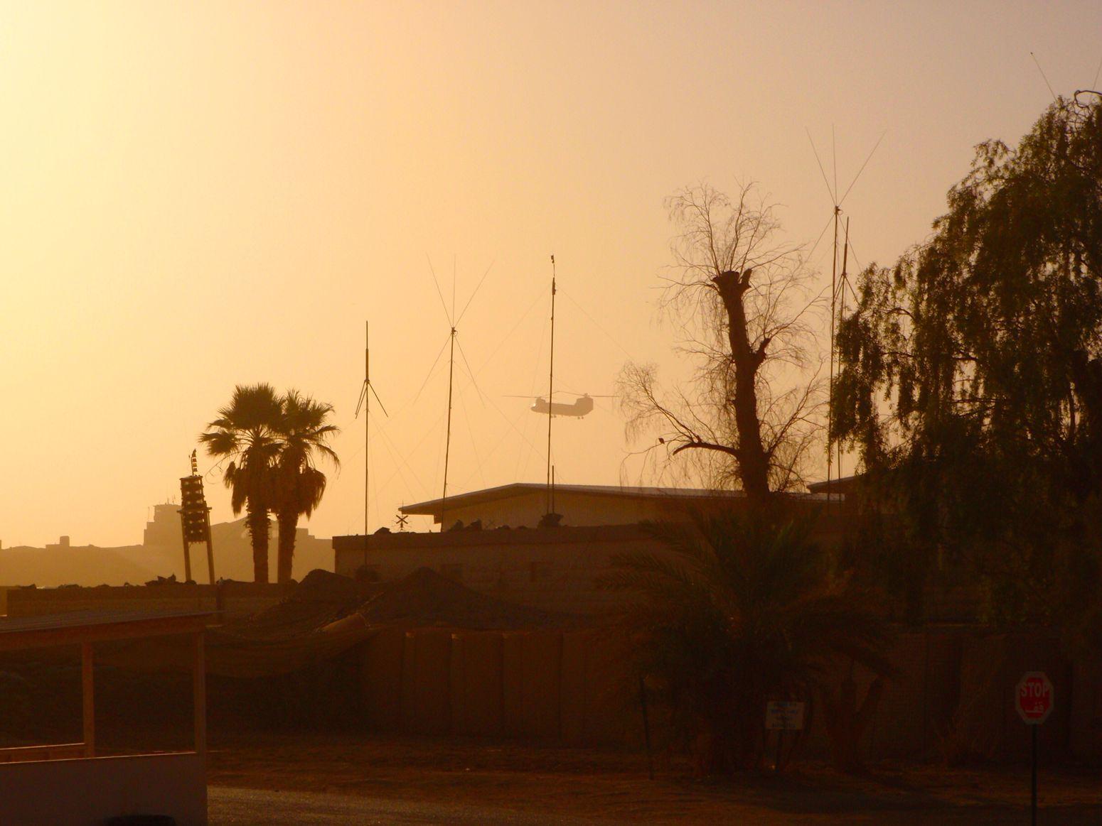 Ramadi Ramadi, Iraq Iraq Helicopter Army Military Gwot Sunset Middle East Politics Aviation 2009-2010 War