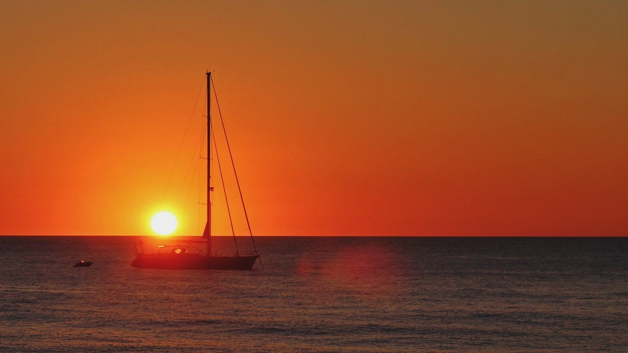 Nautical Vessel Relaxing Place Travel Destinations Horizon Over Water Sailing Ship Beauty In Nature Tirrenic Sea Cefalú, Sicilia, Mare, Paesaggio Sunset Water Outdoors Canon EOS 600D DSLR Sigma1750