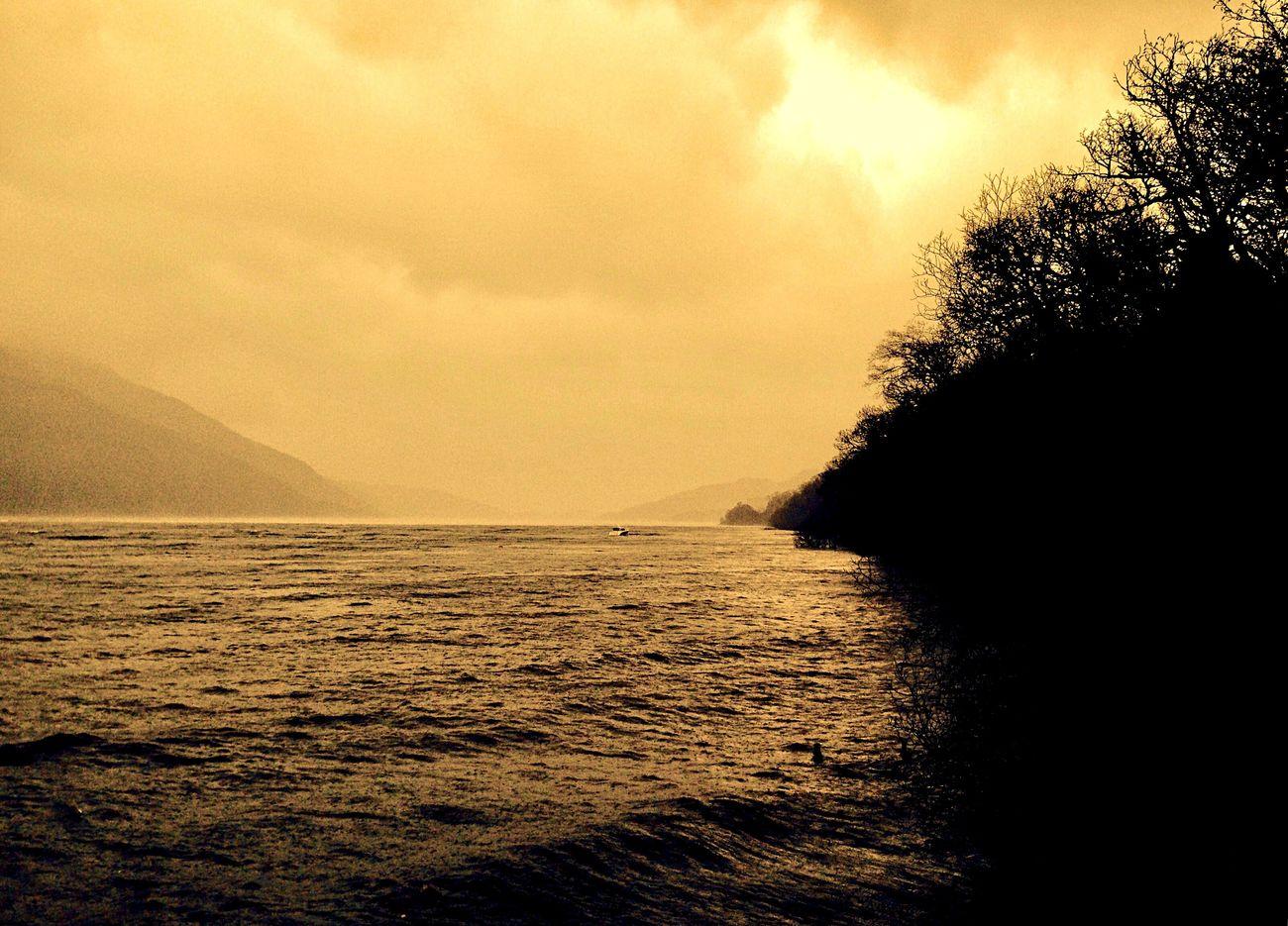LochLomond Beauty In Nature Sunset_collection Sunset Scotland Tree Sky Mountain