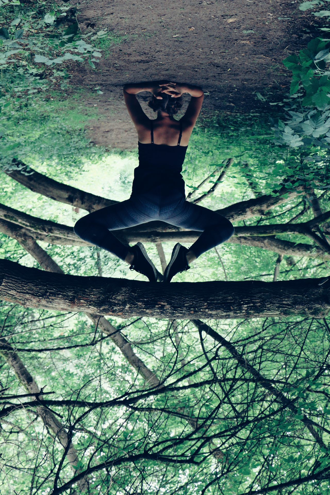 Crazy Me Gymnastics Tree Elbowstand Firest Nature Wild On The Way Adventure Club
