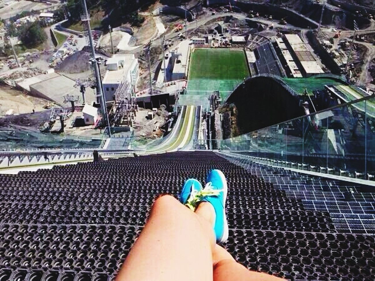 Travelling Relaxing Olympic Taking Photos View From The Top Of The Olympic Ski In Sochi, Russia