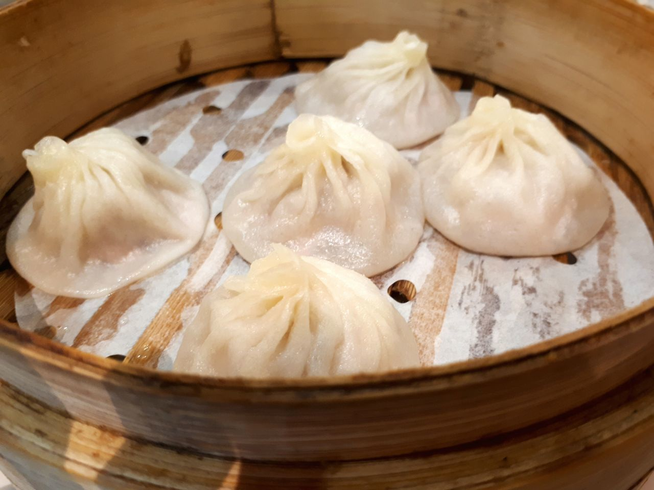 Juicy Xiao Long Baos for warmth on a cold, rainy day ~ 4/3/2017 Food Food And Drink Close-up No People Indoors  Healthy Eating Steamed Dumplings Xiao Long Bao Pork Dumplings Chinese Cuisine Shanghai Food