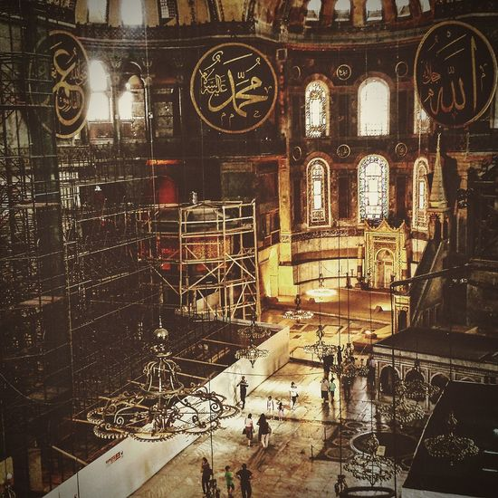 Hagia Sophia Istanbul Indoors  Architecture Illuminated First Eyeem Photo