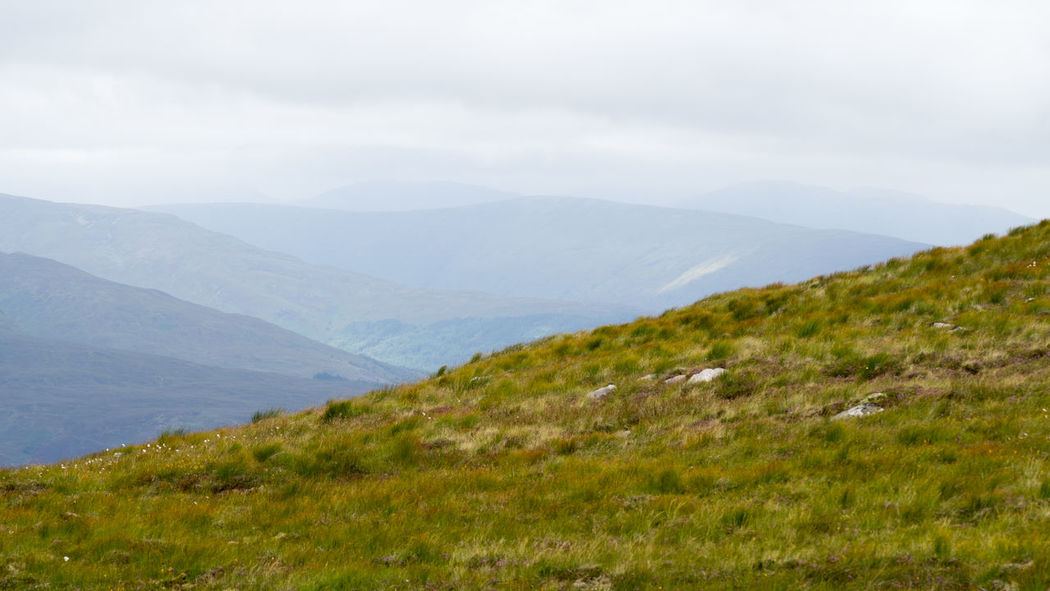 View From Aonach Mor Viewpoint Aonach Mor Nevis Range Mountain Resort Scotland Beauty In Nature Day Fort William Grass Landscape Mountain Mountain Range Nature No People Outdoors Scenics Sky Tranquil Scene Tranquility