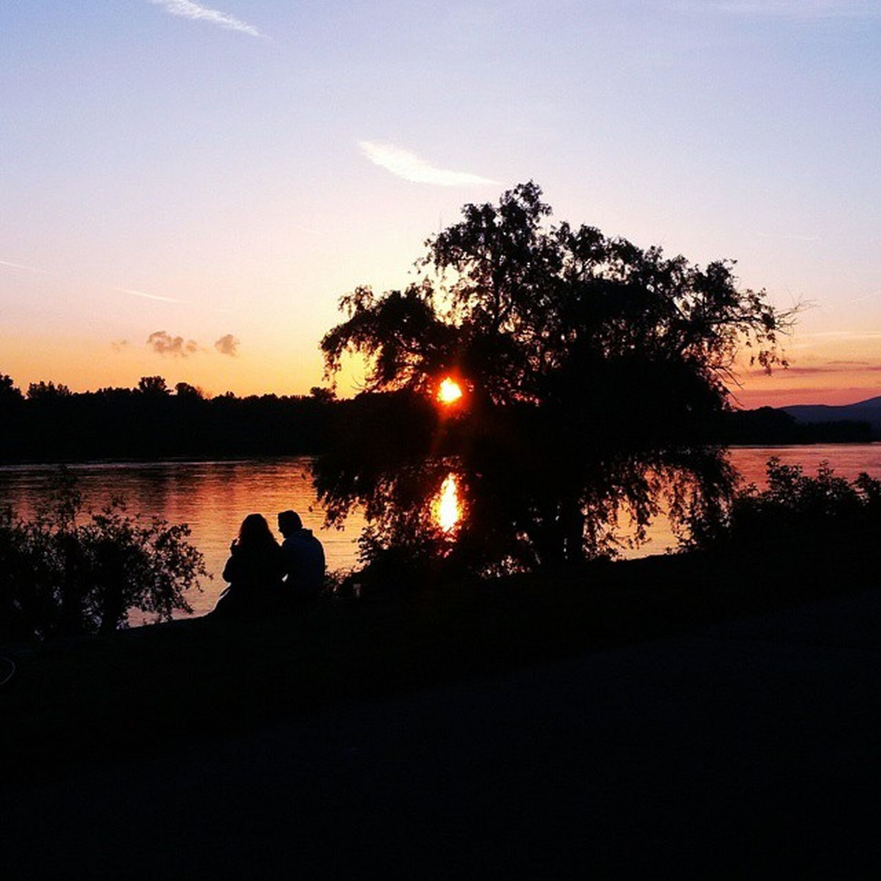Hungary Vac Vacirev Donau Sunset Siluet Sundayevening Love Cute Couple Couplegoals Down By  The River