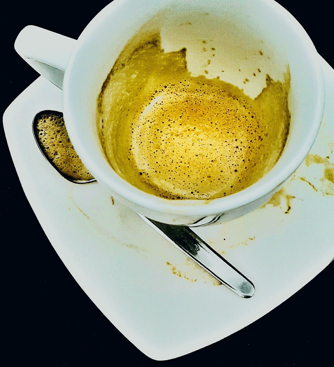 Empty coffe. Drink Coffee Cup Food And Drink Coffee - Drink Cup Close-up Food Coffe Spoon Traces Stain EyEmNewHere