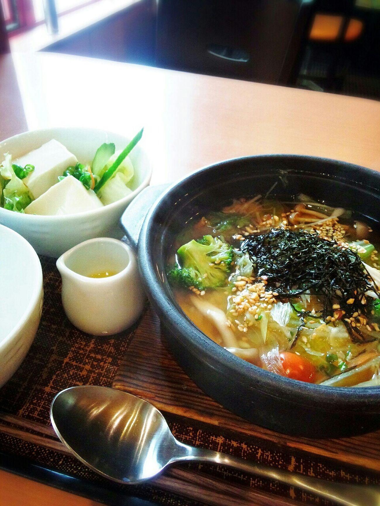 野菜たっぷりスープごはん🍴 Lunch Healthylunch Food Porn Enjoying A Meal Denny's Japanese Restaurant Rice Porridgewith vegetables