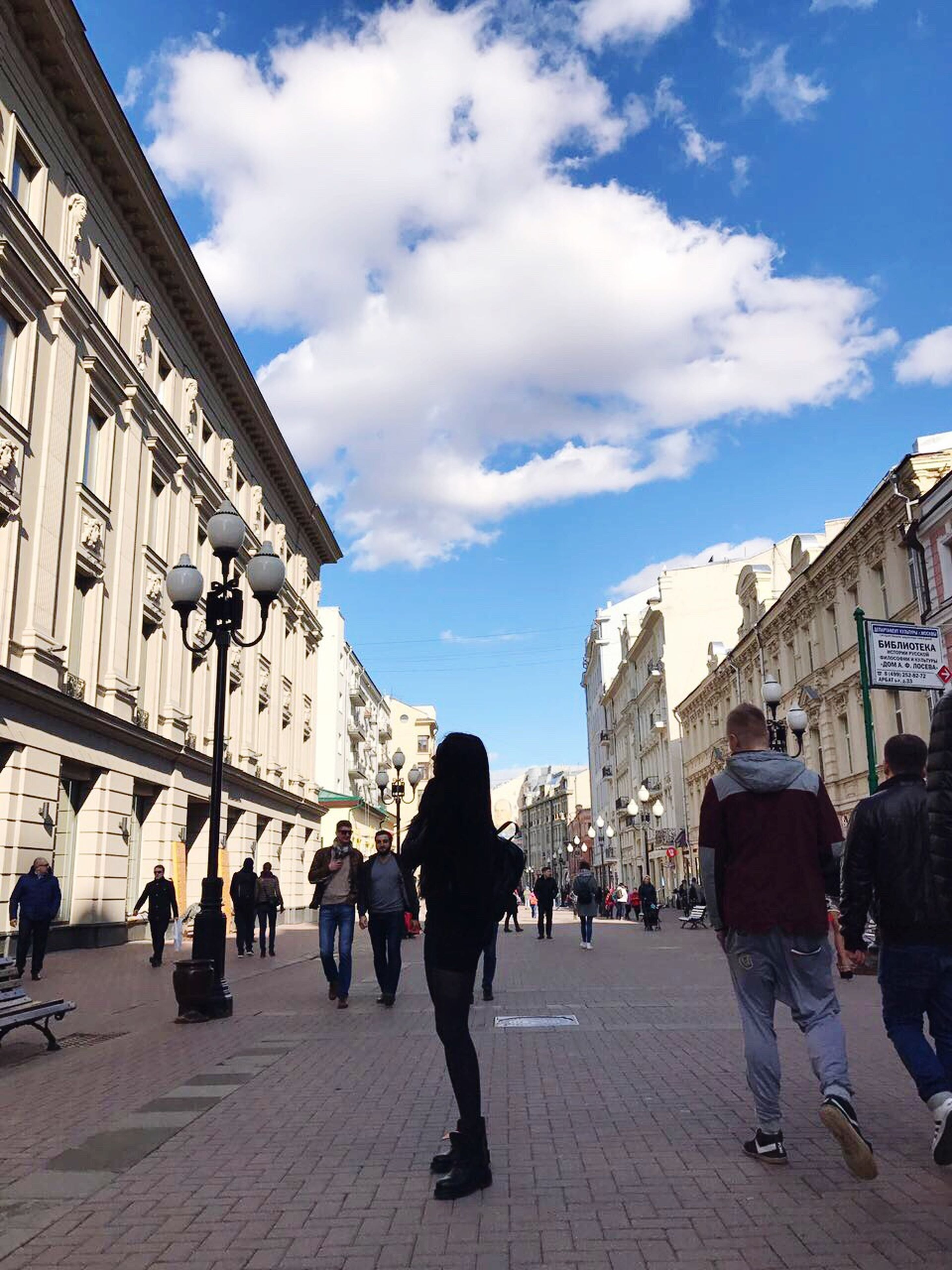 large group of people, walking, city, sky, cloud - sky, architecture, people, day, adults only, outdoors, adult