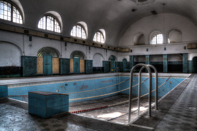 Swimming? .... long time ago Abandoned Abonded Buildings Abondened Places Architecture Architecture_collection Building Long Time Ago Lost Place Lost Places Swimming Pool Urban Exploration