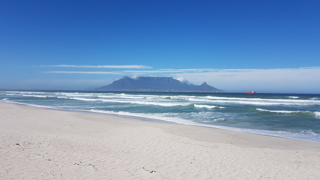 Western Cape South Africa 🇿🇦 Sea Beach Horizon Over Water Blue Sand Wave Surf NatureTourism Sky Summer Beauty In Nature Water Outdoors Scenics No People Tide Vacations Landscape Day Cape Town, South Africa Point Of View