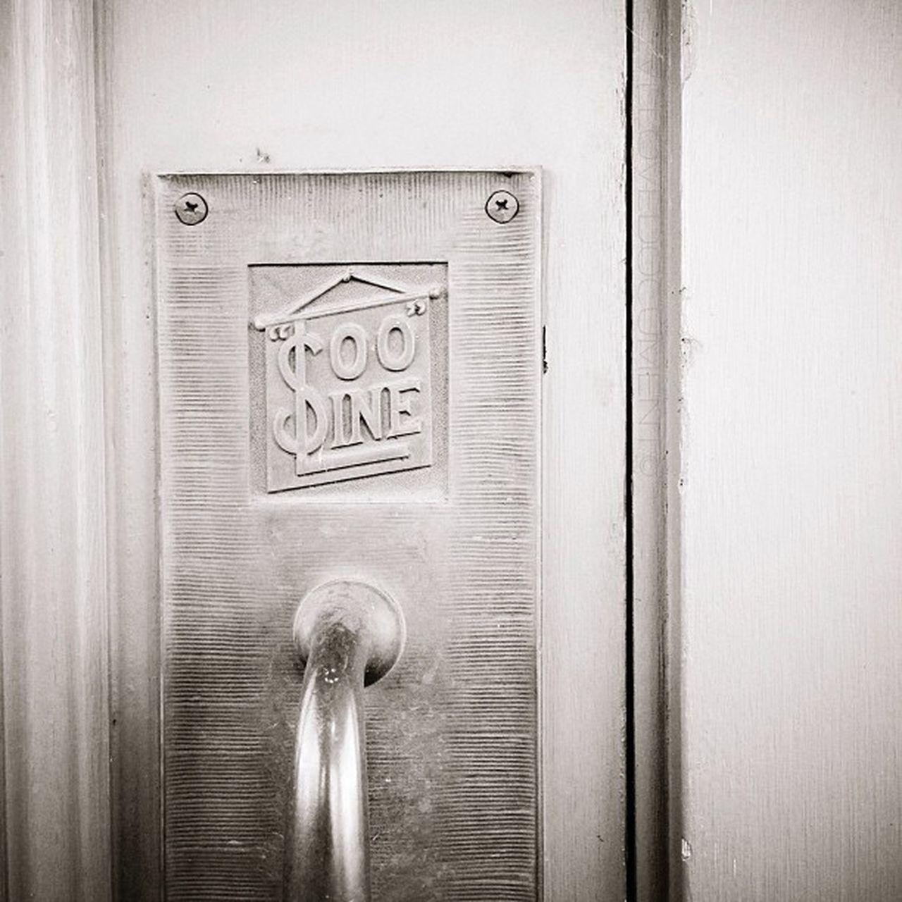 door, communication, metal, no people, close-up, wood - material, day, indoors
