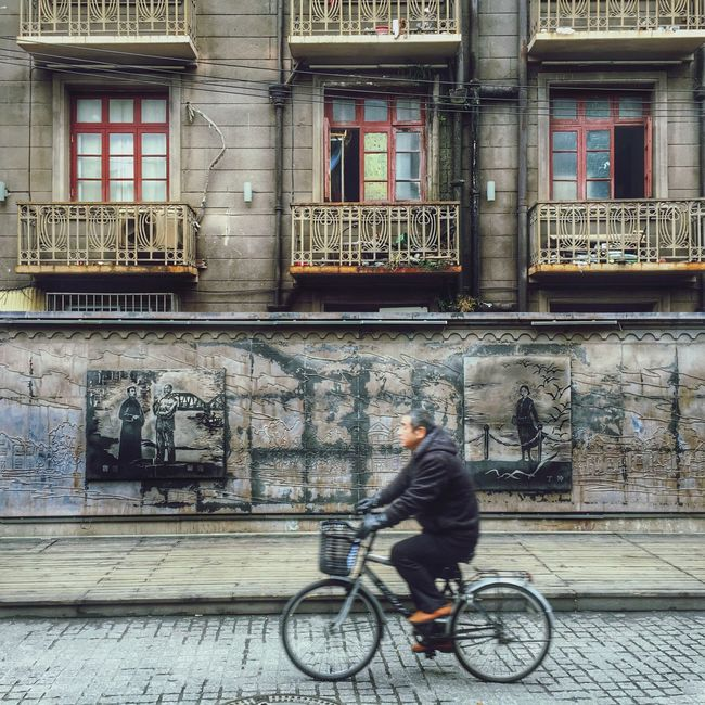 IPhoneography Street Street Photography Streetphotography People People Watching People Photography Travel Bicycle Historical Building Shanghai China