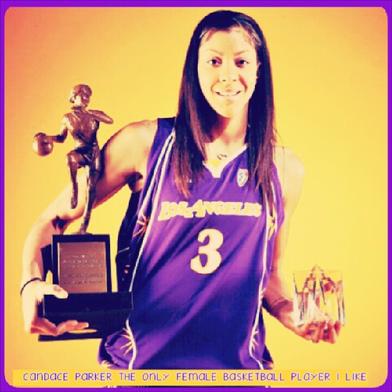 The only Female Basketball player That I like. CandaceParker Wnba Basketball Female Athletic Star MVP Gaurd