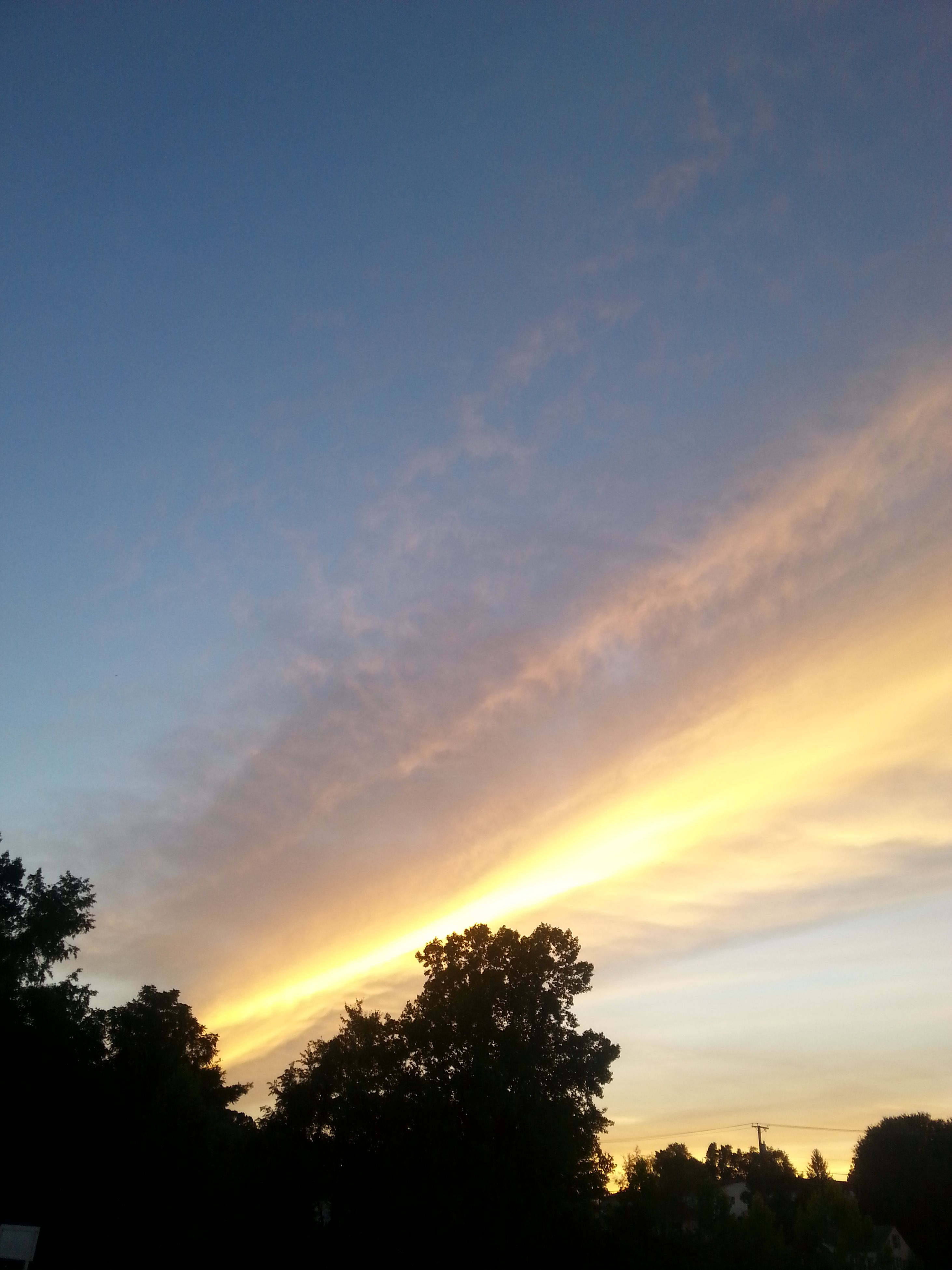 sunset, tree, silhouette, sky, beauty in nature, scenics, tranquility, orange color, tranquil scene, nature, idyllic, cloud - sky, growth, outdoors, no people, cloud, sun, non-urban scene, landscape, majestic, non urban scene, dark, blue