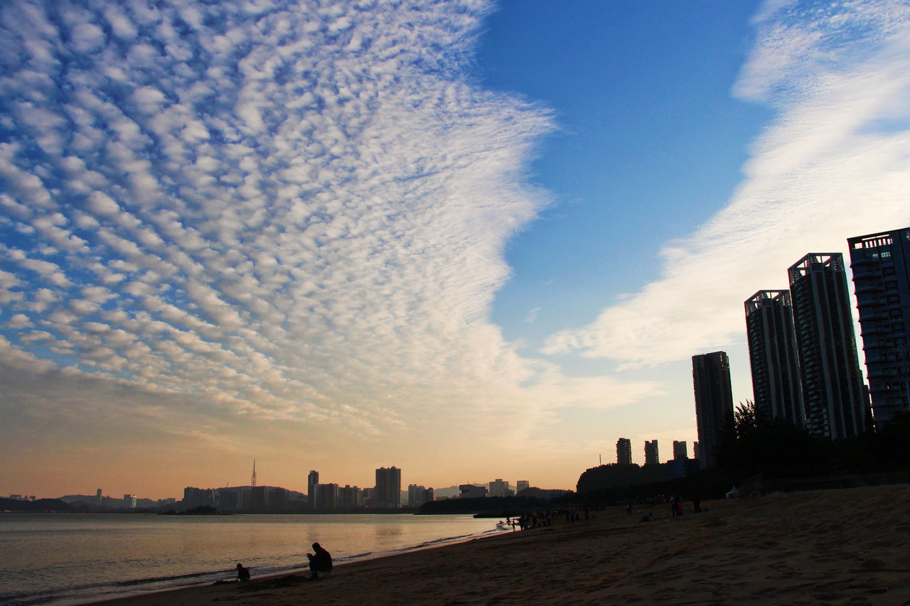Architecture Beach Beach Photography BEIJING北京CHINA中国BEAUTY Building Exterior Built Structure City Cloud - Sky Day Holiday Modern No People Outdoors Reflection Sea Sky Skyscraper Sunset Vacation Time Water Water Reflections Zhuhai