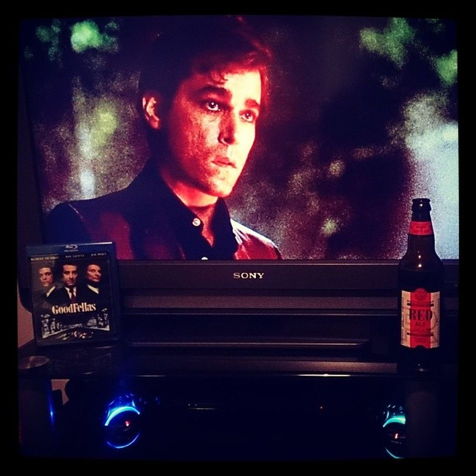 "Goodfellas(Fave movie) & Red Ale. Oh, I like this one... One dog goes one way, the other dog goes the other way, and this guy's sayin', ""Whadda ya want from me?' Goodfellas Rayliotta Robertdeniro Henryhill joepesci martinscorsese gangster redale marstons revisionist pacifichop"