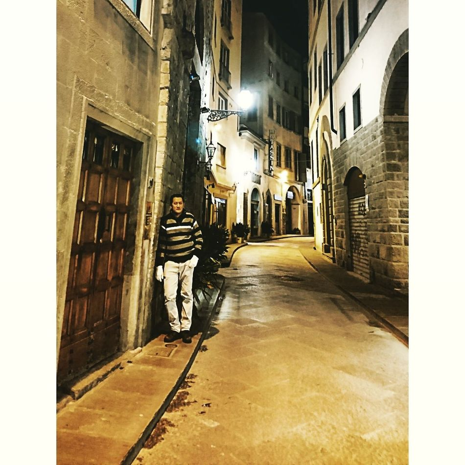 its just me No People One Man Only Quiet One Person Alley At Night