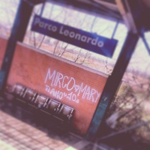 Mirco Loves Mary. LeonardoExpress Termini FCO Italy