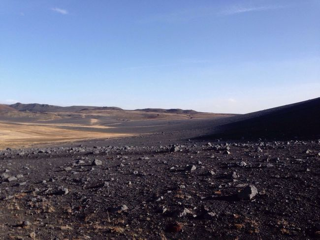 Islande Landscape Moon Vulcano