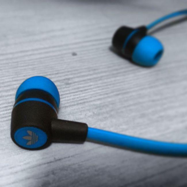 Black And White Adidas Headphones Blue