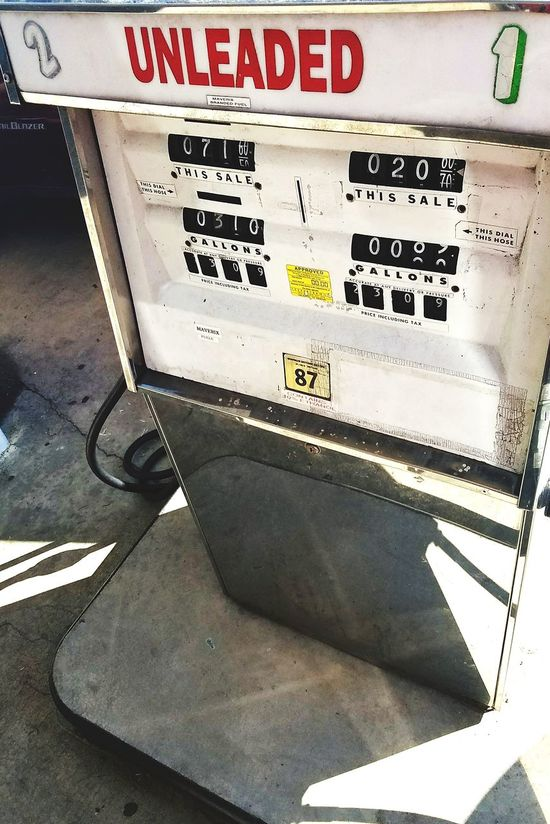 Analog Gas Pump Analog Gaspump Oldschool Gasoline Station Gas Station No People Day Unleaded Unleaded Fuel 87 Octane Mom And Pop Store Fuel Pump Petro Getting Gas United States USA