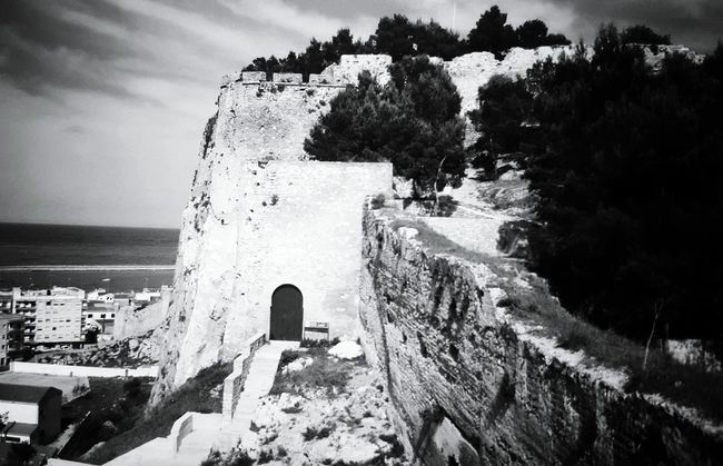 Oldpicture Old Buildings Old Ruin Architecture Blackandwhite Black And White Black And White Collection  Lightandshadows Black And White Collection  Old Architecture Light And Shadow Monochrome _ Collection Tranquility Landscapes Landscape Photography Landscape_photography Landscape Dreamscapes Monochrome Monochromeart Travel Destinations SPAIN Denia 1987 Monochrome Photograhy Surrounding Wall