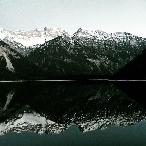 Mountain Reflection Scenics Lake Landscape Beauty In Nature