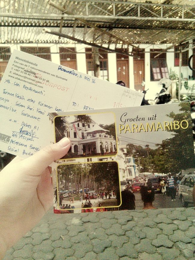 Postcards from Paramaribo, Surinaname. Fun Philately Philatelist Letter Love Travel