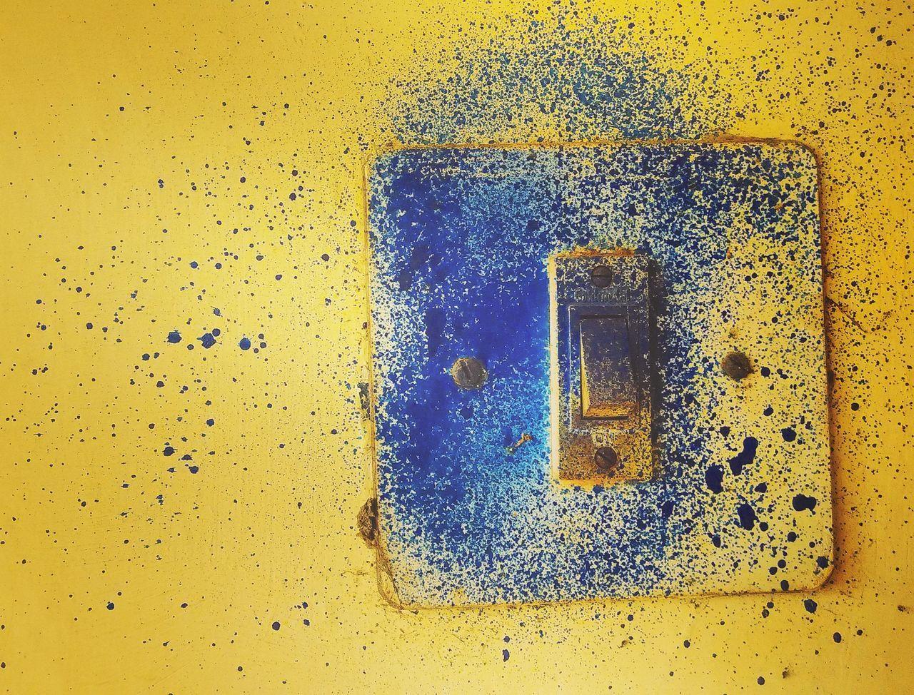 Spraypaint Sprayed Switch Button Blue
