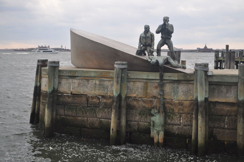 Batteryparkcity Helping Hand Helping Others Helpingeachother Lost At Sea Monument LostAtSeaMonument Monument New York City NYC Statue Statues Water