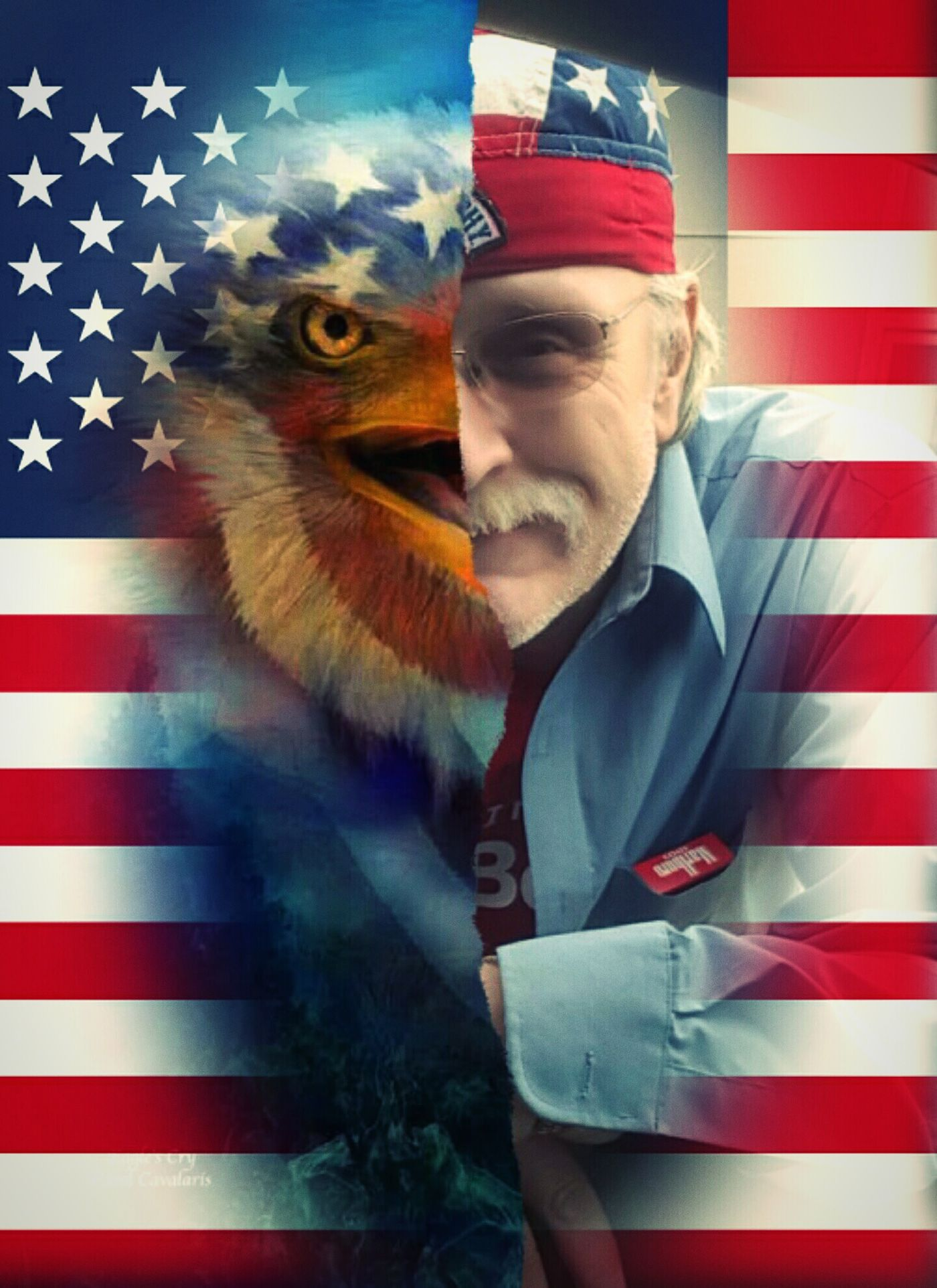 Favorite Animal American Flag American Eagle Americaneagle Dad Half Face EyeEm Best Edits Redwhiteandblue Starsandstrips Spirtanimal Proud To Be An American Hello World Blended Images Experimental Edit Check This Out 50stars USA FLAG Usawesome Usa♡ United States Unitedstatesofamerica Marlboro FaceShot