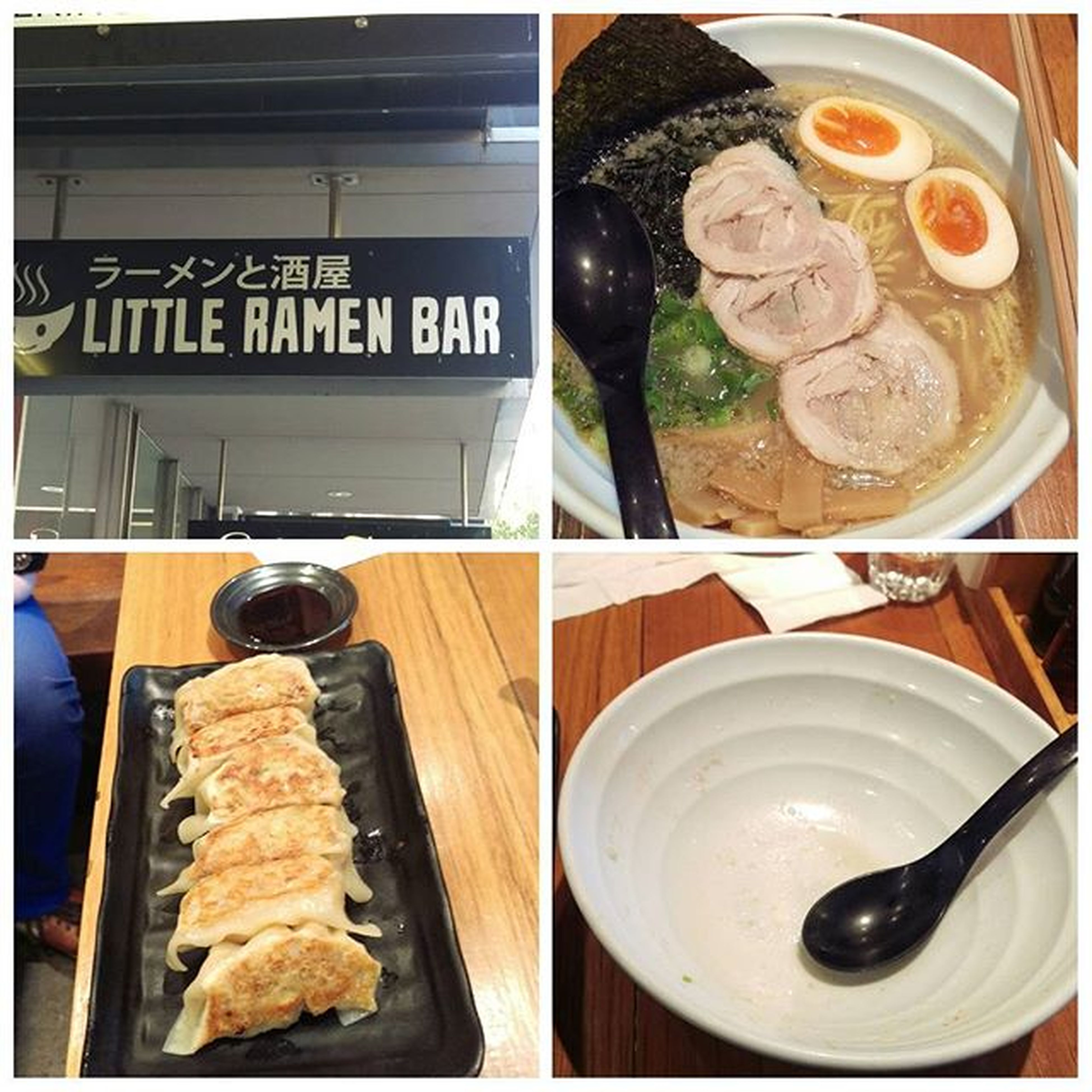 今天來吃一家在墨爾本小有名氣的日本拉麵店,Little Ramen Bar,點了豚骨拉麵加蔬菜餃子,還不錯吃,湯頭蠻濃郁,餃子的皮也薄,餡也紮實,值得來吃看看Littleramenbar Melbourne