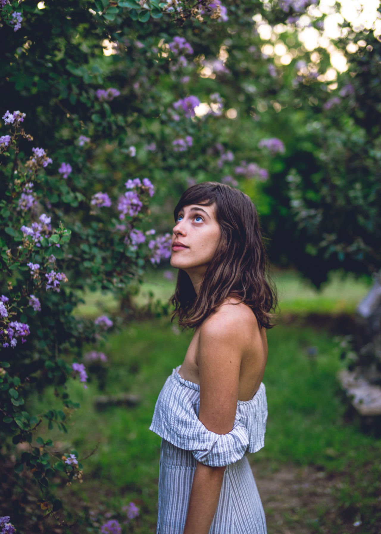 Beautiful Nature Beautiful Woman Beauty In Nature Day Daydreaming Flower Flowers Flowers_collection Focus On Foreground Girl Holiday Leisure Activity Lifestyles Love Lovely Girl One Person Outdoors Purple Real People Standing Travel Travel Photography Tree Young Adult Young Women
