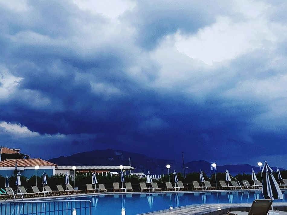 Water Swimming Pool Vacations Palm Tree Mountain No People Tourist Resort Summer Zakhyntos Beach Sea Storm Samsung S8 EyeEmNewHere