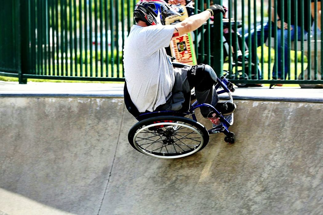 WCMX Action! This is me riding the bowl! That's Me Athlete Adaptive Athletes Wcmx Skatelife Disability Not Inability Disabled Veteran Wheelchair Never Give Up Skating Adaptive Sports Sports photo courtesy of Tracie Garacochea
