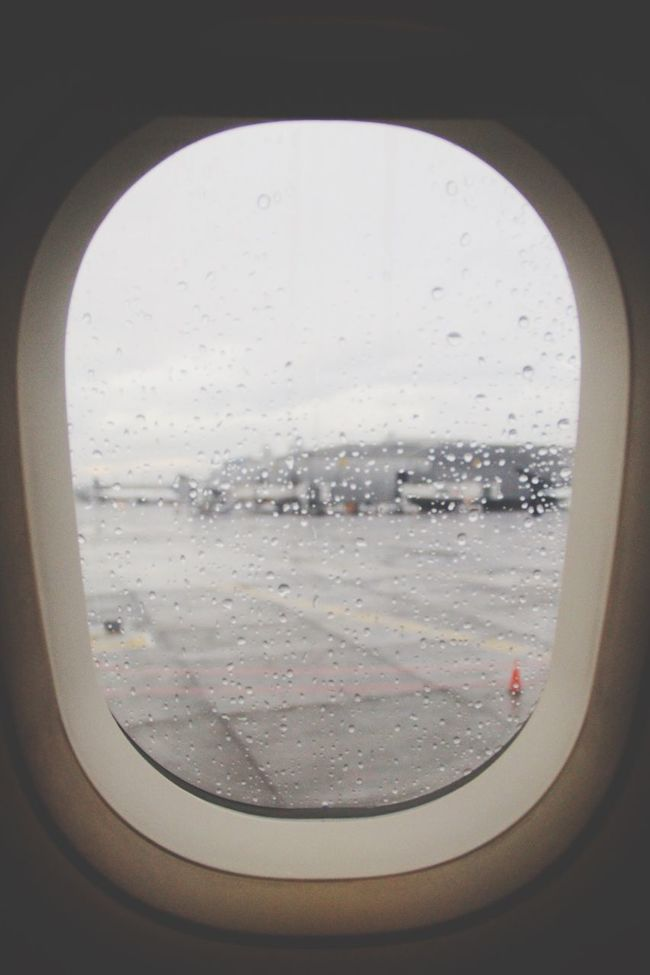 It always starts like this. Airplane Window Rainy Day From Xmas Vacation Love To Travel
