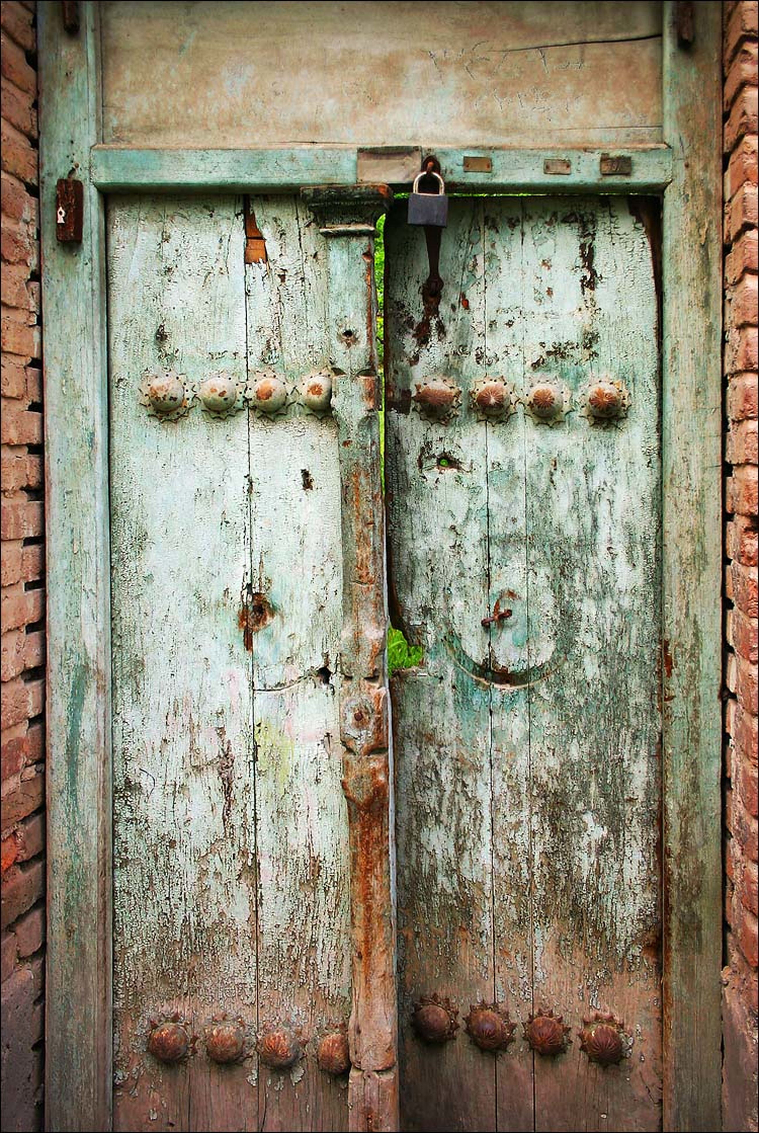 old, weathered, door, wood - material, built structure, closed, abandoned, architecture, run-down, damaged, rusty, deterioration, obsolete, protection, safety, wooden, metal, close-up, building exterior, full frame