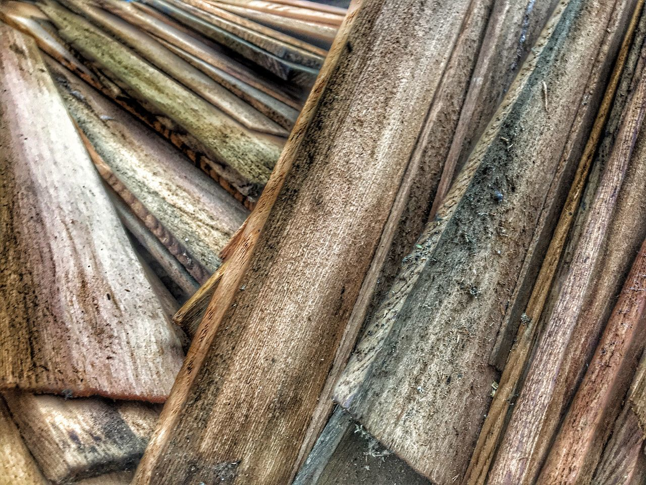 Wood - Material No People High Angle View Day Close-up Outdoors Textured  Backgrounds Used Shingles