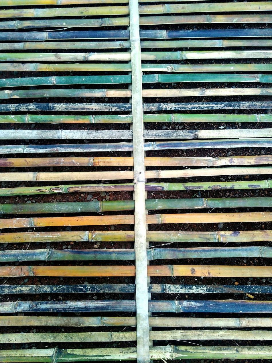 Full Frame Backgrounds Pattern Textured  Metal Day Outdoors Corrugated Iron No People Built Structure Corrugated Architecture Close-up Bamboo Art Bamboodesign Bamboo Gate